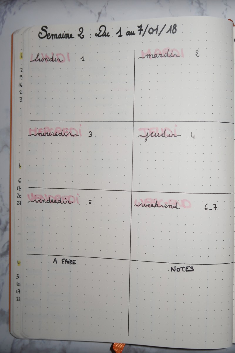 pages bullet journal